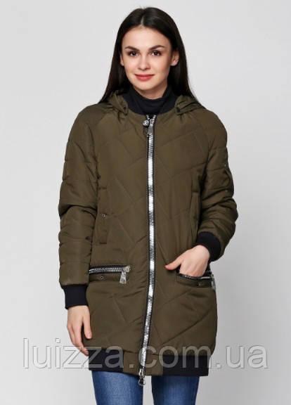 Женская куртка из матовой плащевки 44-50р хаки