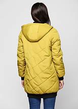 Женская куртка из матовой плащевки 44-50р зеленый, фото 2
