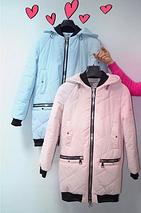 Женская куртка из матовой плащевки 44-50р голубая, фото 3