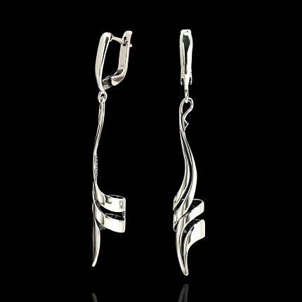 Cеребряные серьги-подвески Спираль, фото 2