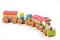 Деревянная игрушка Левеня Cubika Паровозик LP-1 38 деталей (11681)