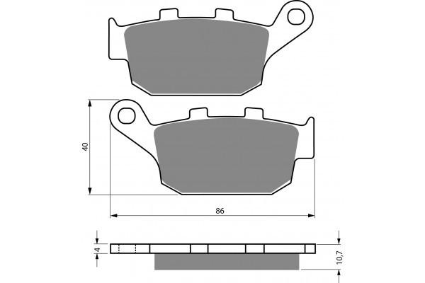 Тормозные колодки NIBK PM047