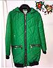 Женская куртка из матовой плащевки 44-50р зеленый
