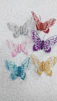 Набор бабочек декоративных 6 штук 10 см