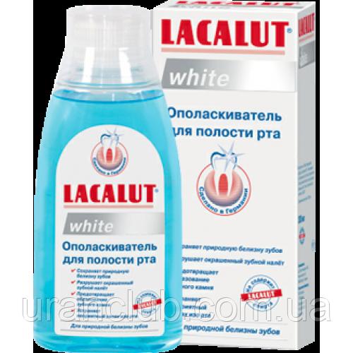 """Ополаскиватель для полости рта LACALUT white (лакалут вайт) 300 мл - Кoмпaния """"УPAHКЛУБ"""" в Днепре"""