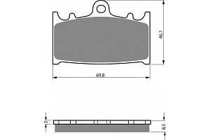 Тормозные колодки NIBK PM058