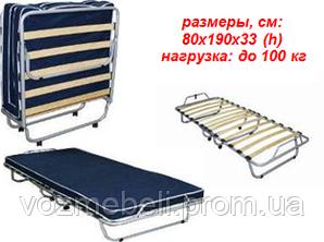 Раскладушка с матрасом Классик /Матролюкс/
