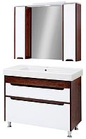 Мини-комплект мебели для ванной комнаты Браун 100 Юввис