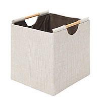 Корзина белая для белья детских вещей Home4You 33x32xH33cm