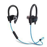 Наушники XY-BT-8302 Bluetooth влагоустойчивые с микрофоном для спорта синие