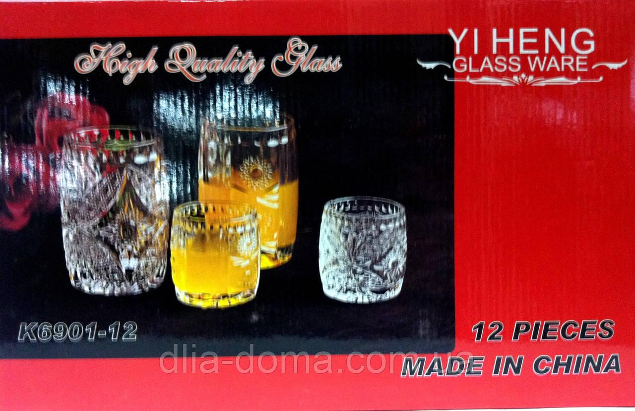 Набор стаканов и рюмок 6+6