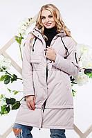 Удлиненная теплая куртка женская Авиана р-ры 44,46,48,50,52,54,56