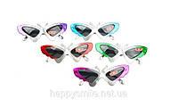Карнавальные очки «бабочка» в цветной оправе