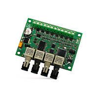 INT-FI Охранная сигнализация Оптоволоконный конвертер преобразование шин клавиатур и модулей расширения INTEGR