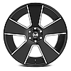 DUB DEL GRANDE Gloss Black with Milled Accents, фото 3