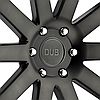 DUB SHOT CALLA Matte Black with Machined Face and Double Dark Tint, фото 3