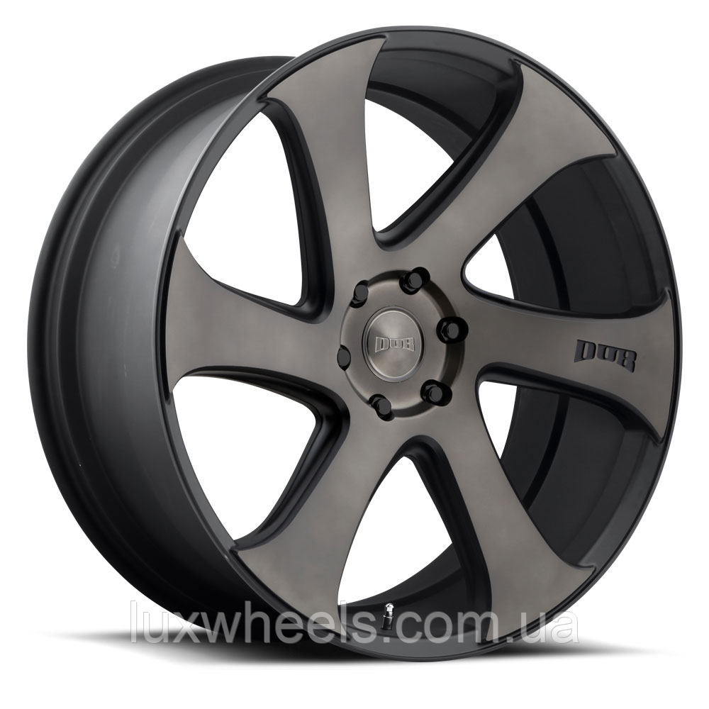 DUB SWERV Black and Machined with Dark Tint