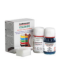 Краска для гладкой кожи и текстиля + очиститель Tarrago Color Dye, 2*25 мл,  цв. темно-синий (17)