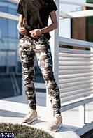 Женские спортивные штаны (комуфляж)