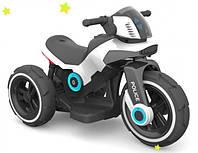 Детский электромотоцикл Alexis Baby Mix Police - Польша - стильный дизайн, большие колеса, мягкое сиденье