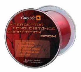 Леска Prologic Interceptor Competition Long Distance 300m 17lbs 8.4kg 0.33 красная
