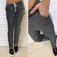 Женские штаны спортивные с люрексом