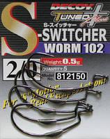 Крючок Decoy S-Switcher Worm 102 3/0, 5шт