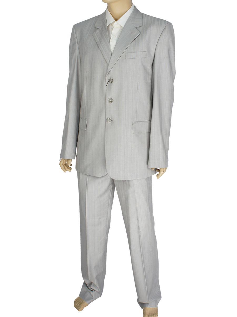 Классический мужской костюм светло-серого цвета 48/182 Л