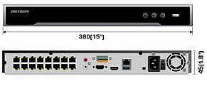 Комплект видеонаблюдения IP 16-ти канальный Hikvision - 16PoE - для улицы, фото 3