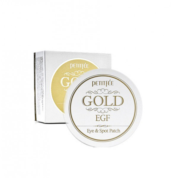 Petitfee Гидрогелевые Патчи под Глаза с Золотом Gold & EGF Eye & Spot Patch 90 шт