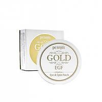 Petitfee Gold & EGF Eye & Spot Patch Гидрогелевые патчи вокруг глаз 90шт