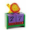 Календарь настольный Черепаха дерево