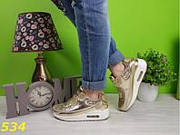 Кроссовки аирмаксы золото женские, фото 1