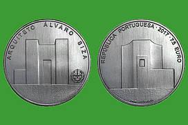 Португалия 7,5 евро 2017 г. Архитектор Альваро Сиза , UNC