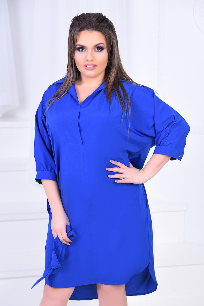 ИВ7018 Платье-рубашка с кармашками (размеры 46-60)