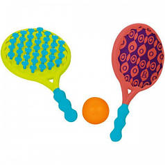 Игровой набор - ПЛЯЖНЫЙ ТЕННИС: ДВА-В-ОДНОМ ракетки с присосками, мячик BX1526Z