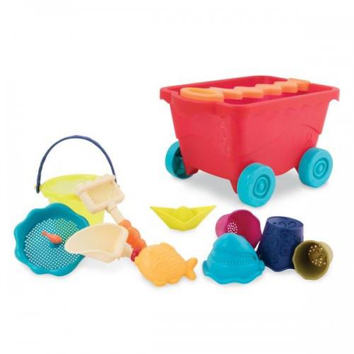Набор для игры с песком и водой Battat - ТЕЛЕЖКА МАНГО 11 предметов BX1594Z