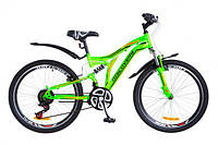 """Велосипед 24"""" Discovery ROCKET  зелено-оранжевый 2018"""