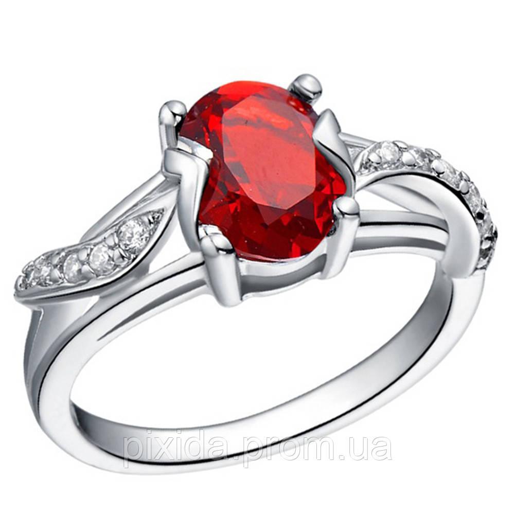 Кольцо Габриэлла кристаллы  покрытие 925 серебро 2 цвета