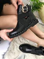 Стильные женские ботинки из натуральной кожи весна - осень