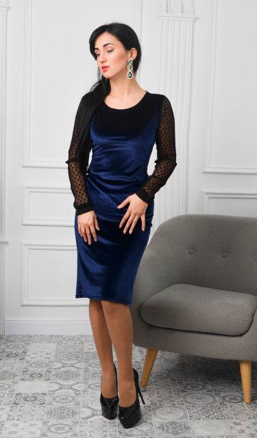 Шикарное платье-футляр из бархата