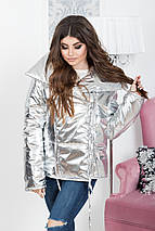 """Стеганая женская куртка на завязках """"O'SILVER"""" с широким воротником, фото 2"""