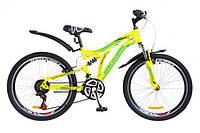 "Велосипед 24"" Discovery ROCKET  желто-синий 2018"