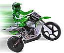 Мотоцикл 1:4 Himoto Burstout MX400 (зеленый)                                                        , фото 2