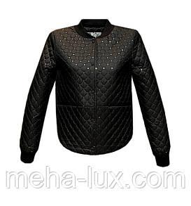Куртка Zilanliya бомбер молодежная стеганная с пайетками черная