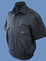 Форменная рубашка черная на короткий рукав