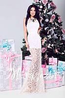Платье женское нарядное гипюровое белое 2786, фото 1
