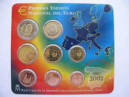 Испания официальный набор евро монет 2002 г.