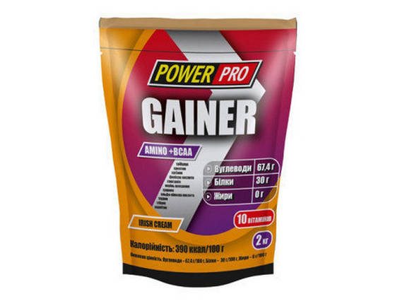 Гейнер Power Pro Gainer 2 кг, фото 2