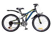"""Велосипед 24"""" Discovery ROCKET черно-синий с желтым 2018"""